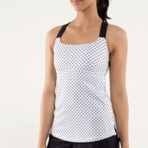 Lululemon Track and Train Tank Top Size 6 Polkadot